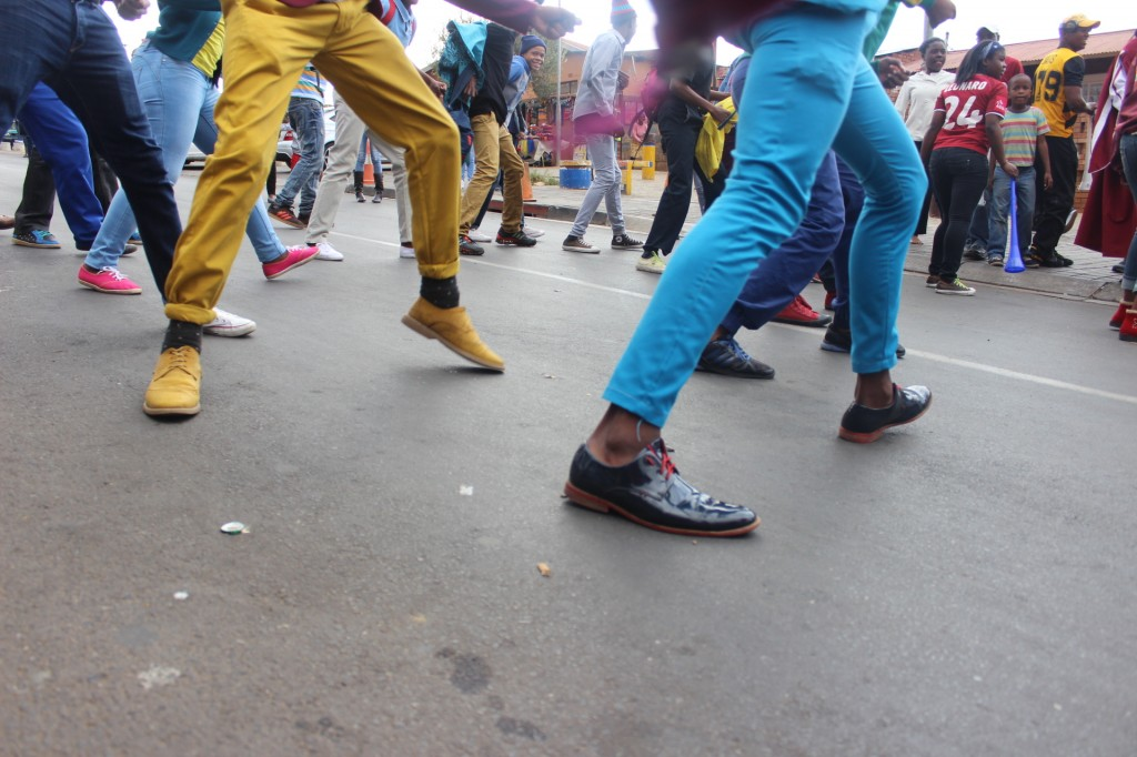 taken at the Grant's whisky tasting  in Soweto during a flash mob
