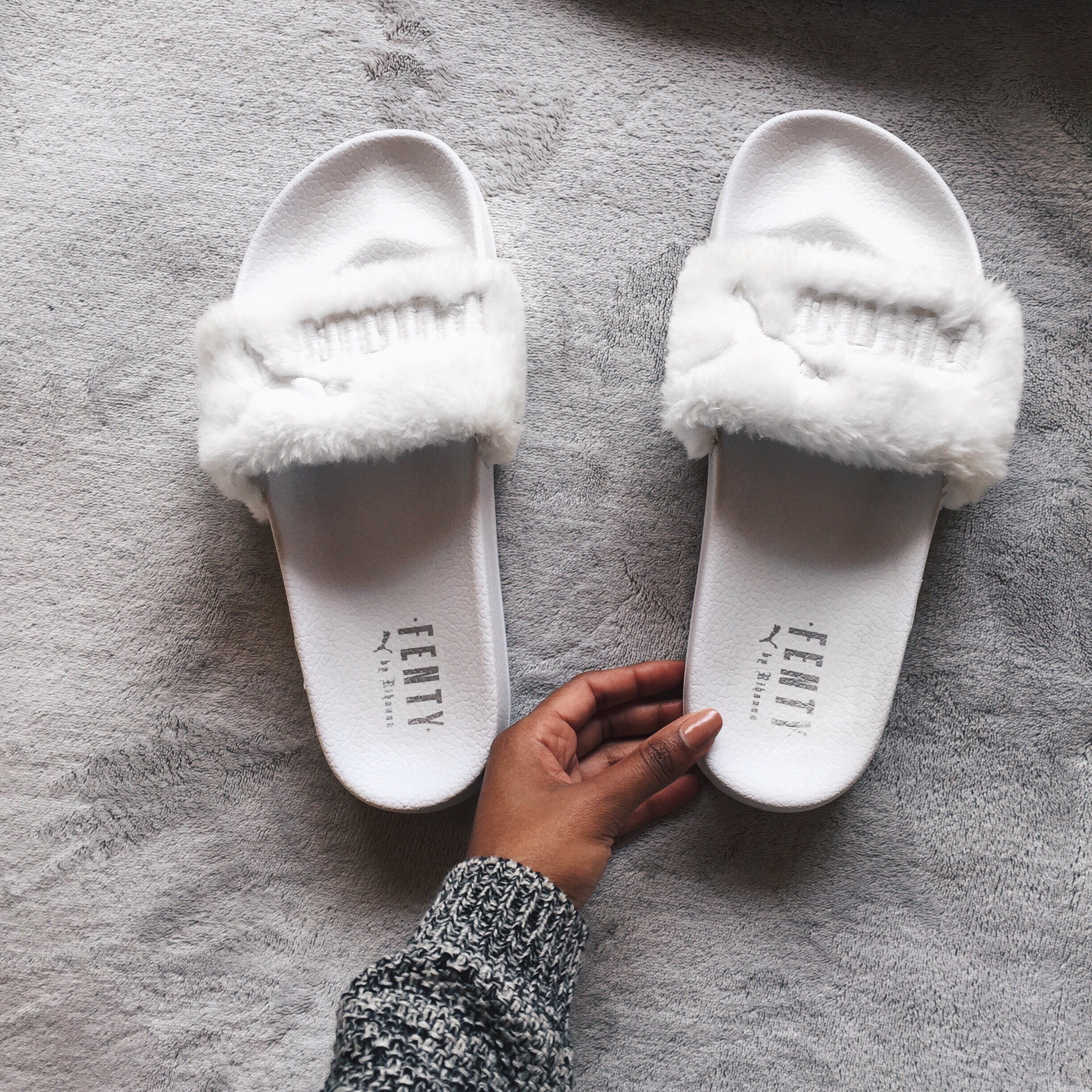 premium selection 2c8c5 7dee1 How To: Clean Your PUMA X Fenty Slides | Sleepless In Soweto