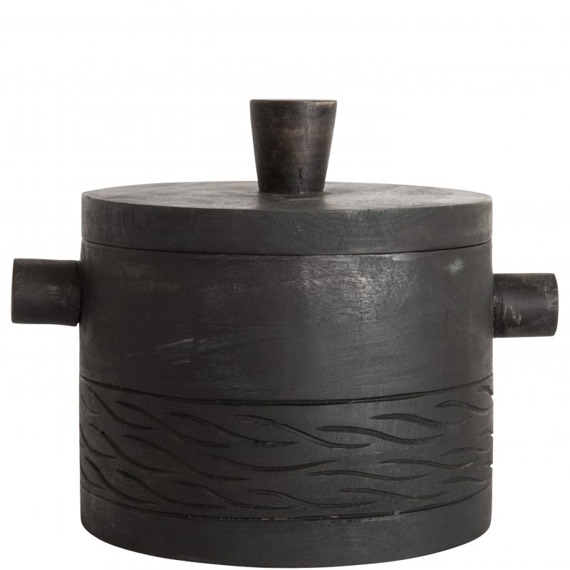 BLACKENED WOOD ICE BUCKET R895